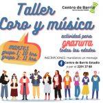 19.10.2021 Taller de Coro y Música gratuito para todas las edades